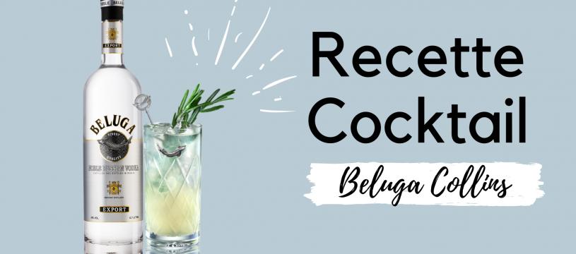 Recette cocktail : Le Beluga Collins